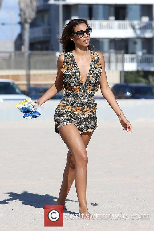 Rochelle Humes of The Saturdays walking on Venice...