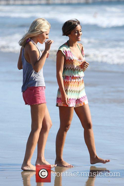 Mollie King and Frankie Sandford of The Saturdays...