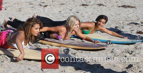 Vanessa White, Mollie King, Frankie Sandford, The Saturdays and Venice Beach 6