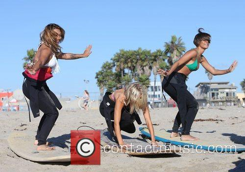 Vanessa White, Mollie King, Frankie Sandford, The Saturdays and Venice Beach 8