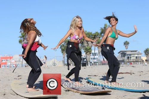 Vanessa White, Mollie King, Frankie Sandford, The Saturdays and Venice Beach 4