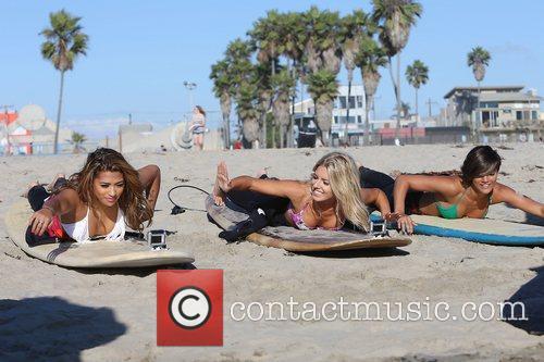 Vanessa White, Mollie King, Frankie Sandford, The Saturdays and Venice Beach 10