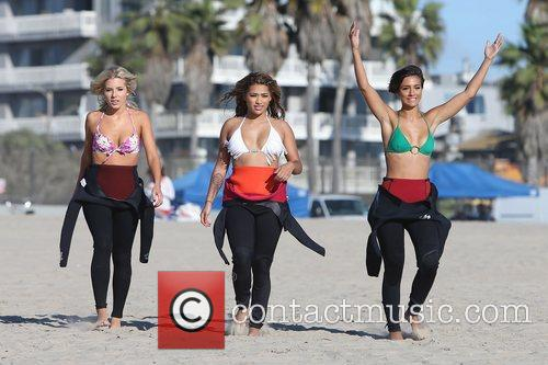 Mollie King, Vanessa White, Frankie Sandford, The Saturdays and Venice Beach 8