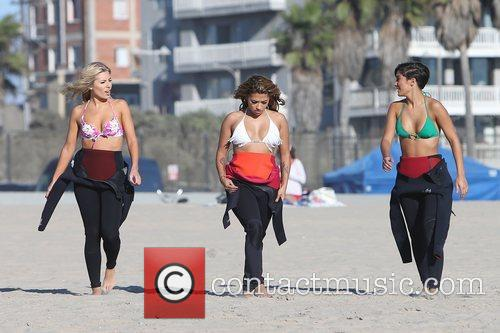 Mollie King, Vanessa White, Frankie Sandford, The Saturdays and Venice Beach 7