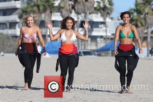 Mollie King, Vanessa White, Frankie Sandford, The Saturdays and Venice Beach 10