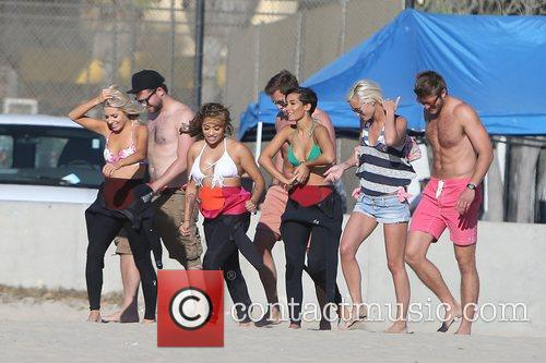 Mollie King, Vanessa White, Frankie Sandford, The Saturdays and Venice Beach 3
