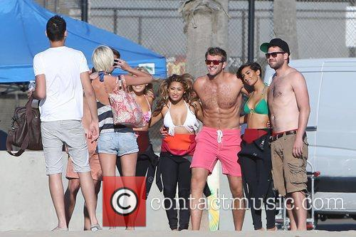 Mollie King, Vanessa White, Frankie Sandford, The Saturdays and Venice Beach 2