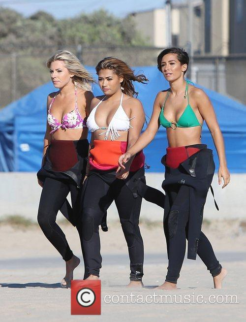 Mollie King, Vanessa White, Frankie Sandford, The Saturdays and Venice Beach 1
