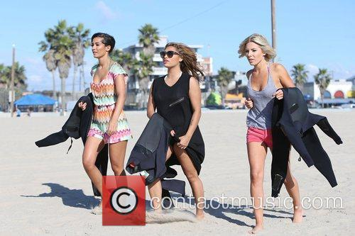 Frankie Sandford, Vanessa White, Mollie King, The Saturdays and Venice Beach 1
