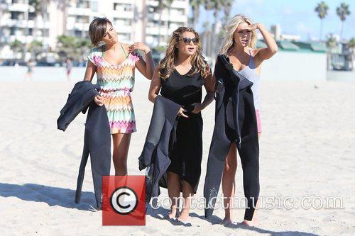 Frankie Sandford, Vanessa White, Mollie King, The Saturdays and Venice Beach 6
