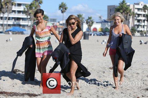 Frankie Sandford, Vanessa White, Mollie King, The Saturdays and Venice Beach 4