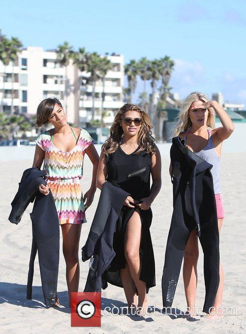 Frankie Sandford, Vanessa White, Mollie King, The Saturdays and Venice Beach 5