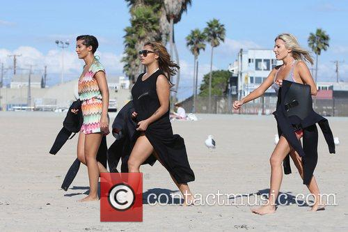 Frankie Sandford, Vanessa White and Mollie King of...