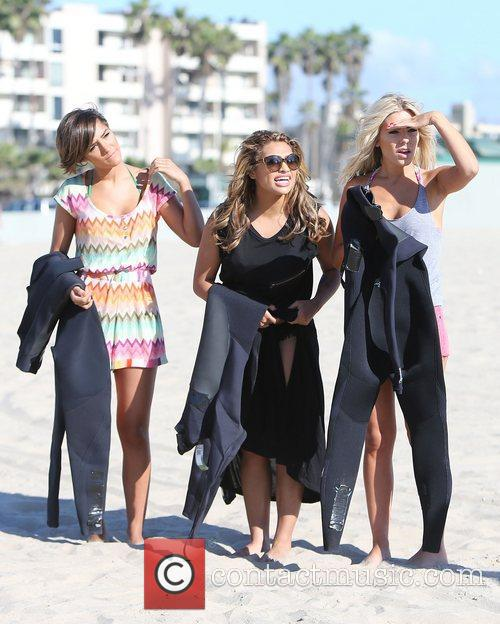 Frankie Sandford, Vanessa White, Mollie King, The Saturdays, Venice Beach