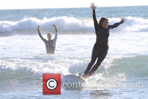 vanessa white the saturdays enjoy a surfing 4121578