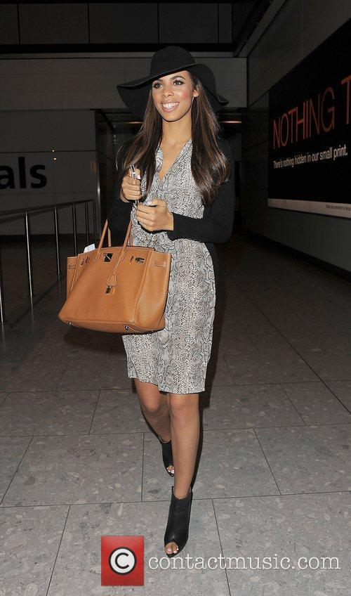Rochelle Wiseman arrives at Heathrow airport with the...