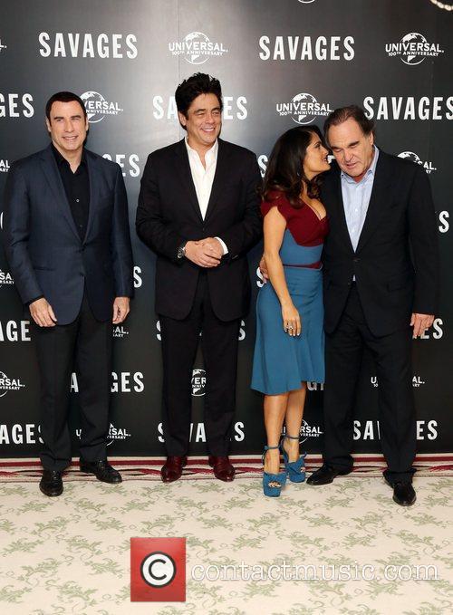 John Travolta, Salma Hayek, Benicio Del Toro and Oliver Stone 11