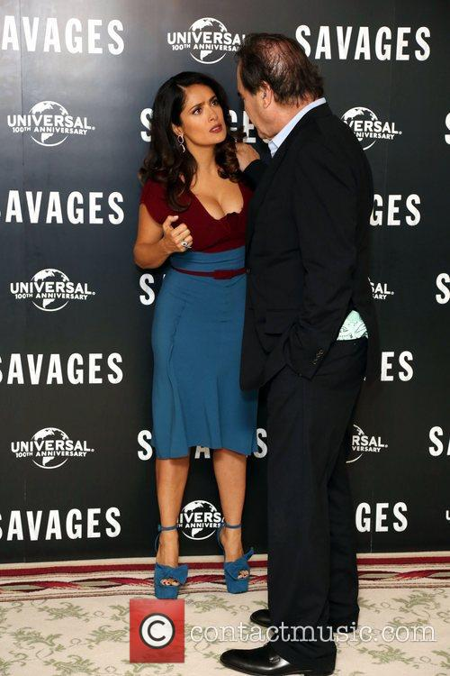 Salma Hayek and Oliver Stone 2