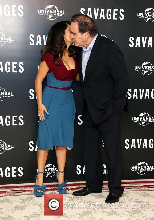 Salma Hayek and Oliver Stone 1