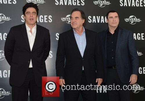 Benicio Del Toro, Oliver Stone, John Travolta, Savages, Mandarin Oriental, London and England 3