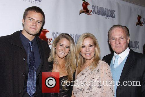 Kathie Lee Gifford, Cassidy Erin Gifford, Cody Gifford, Frank Giffordat, Scandalous The Musical, Neil Simon Theatre and Arrivals. New York City 4