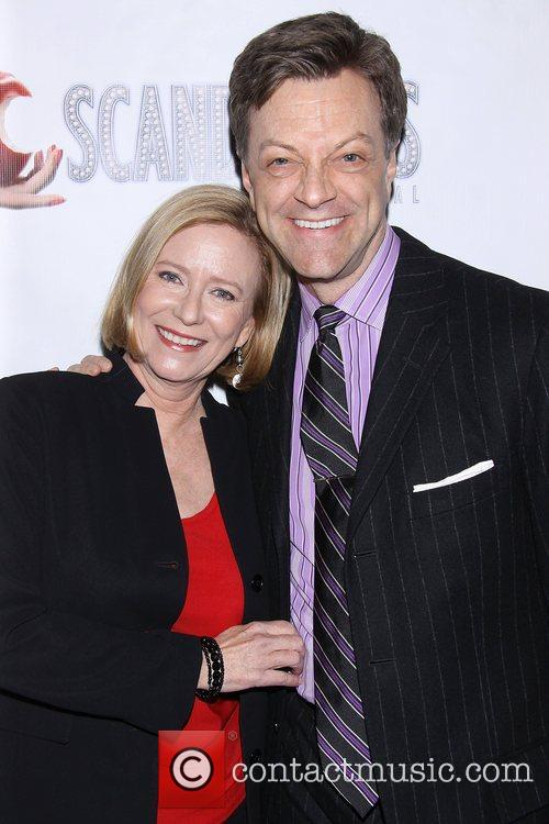 Eve Plumb and Jim Caruso at the premiere...
