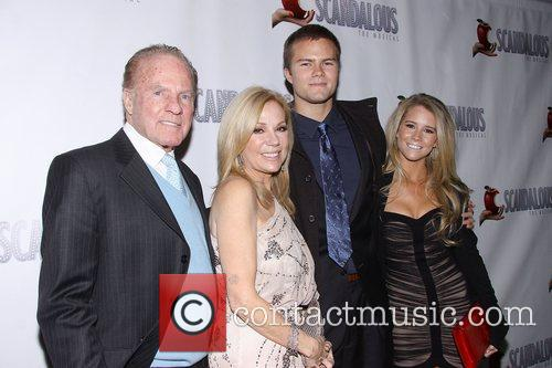 Kathie Lee Gifford, Frank Gifford, Cody Gifford, Cassidy Erin Giffordat, Scandalous The Musical, Neil Simon Theatre and Arrivals. New York City 3