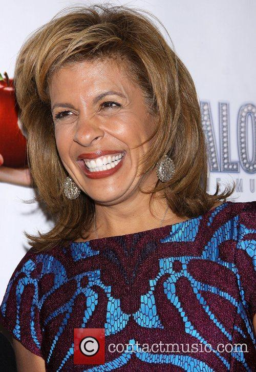 Hoda Kotbat the premiere of 'Scandalous The Musical'...
