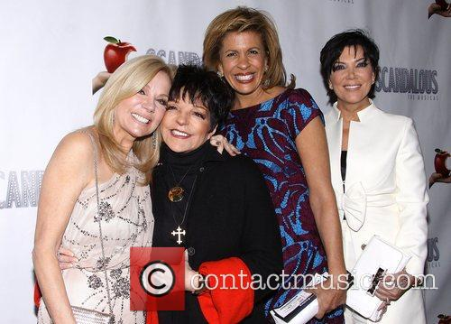 Kathie Lee Gifford, Liza Minnelli, Hoda Kotb, Kris Jenner, Scandalous The Musical, Neil Simon Theatre, Arrivals. New York City