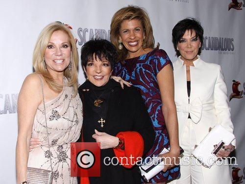 Kathie Lee Gifford, Liza Minnelli, Hoda Kotb, Kris Jennerat, Scandalous The Musical, Neil Simon Theatre and Arrivals. New York City