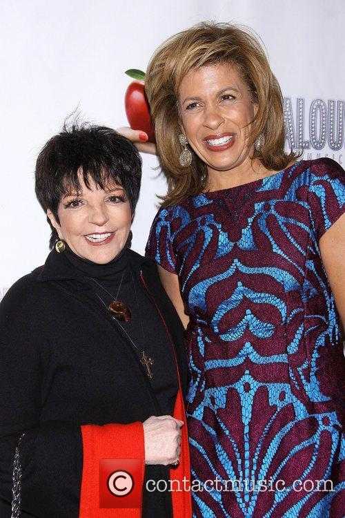 Liza Minnelli and Hoda Kotbat the premiere of...
