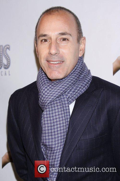 Matt Lauer, Scandalous The Musical, Neil Simon Theatre and Arrivals. New York City 2