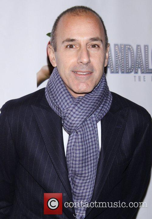 Matt Lauer, Scandalous The Musical, Neil Simon Theatre and Arrivals. New York City 1
