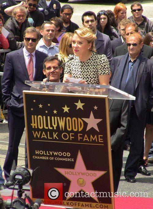 Scarlett Johansson and Star On The Hollywood Walk Of Fame 10