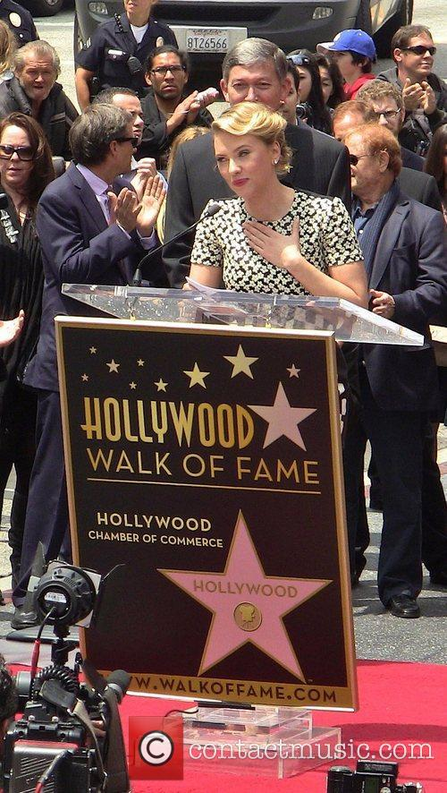 Scarlett Johansson and Star On The Hollywood Walk Of Fame 54