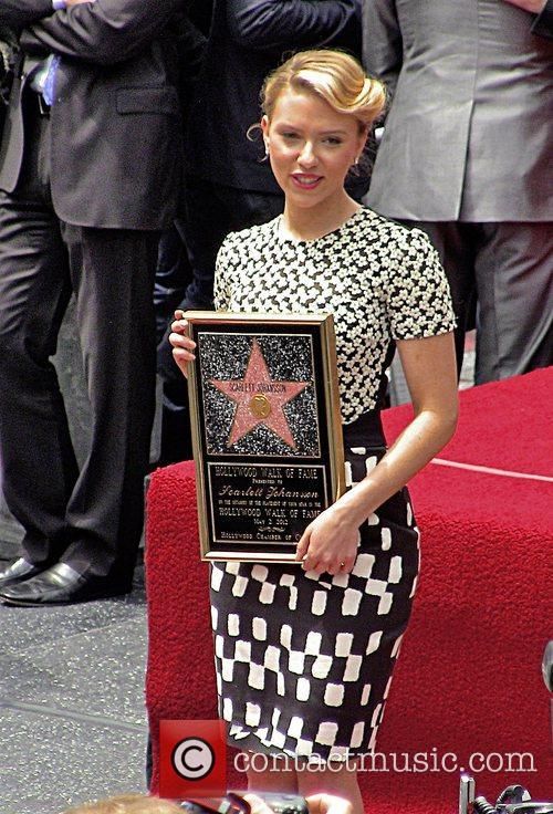 Scarlett Johansson and Star On The Hollywood Walk Of Fame 55
