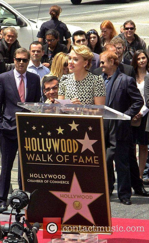 Scarlett Johansson and Star On The Hollywood Walk Of Fame 56