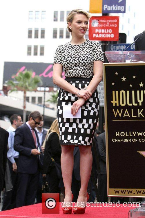 Scarlett Johansson and Star On The Hollywood Walk Of Fame 7