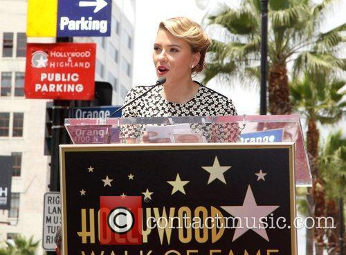 Scarlett Johansson and Star On The Hollywood Walk Of Fame 8