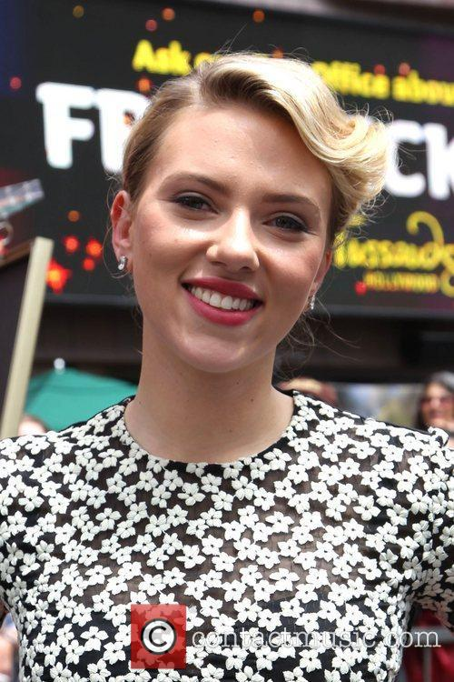 Scarlett Johansson and Star On The Hollywood Walk Of Fame 17