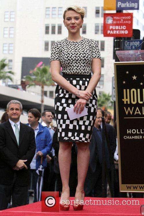 Scarlett Johansson and Star On The Hollywood Walk Of Fame 18