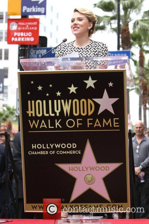 Scarlett Johansson and Star On The Hollywood Walk Of Fame 25