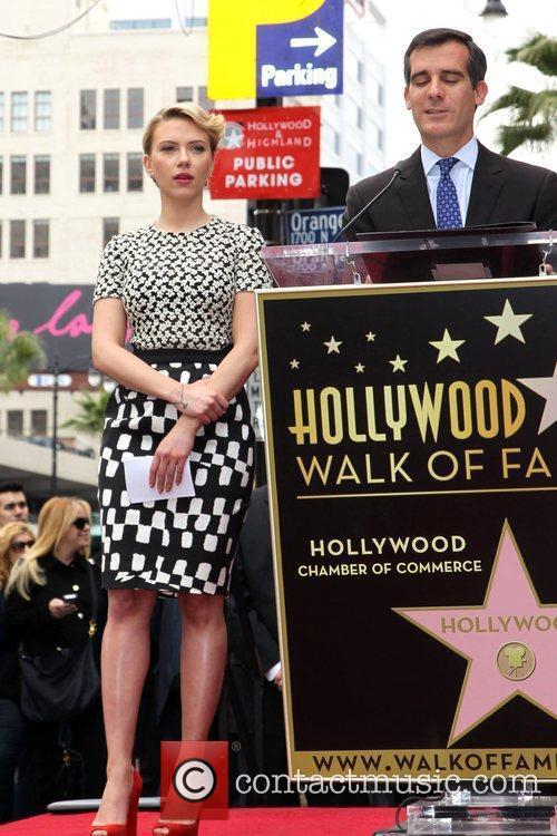 Eric Garcetti, Scarlett Johansson  Actress Scarlett Johansson...