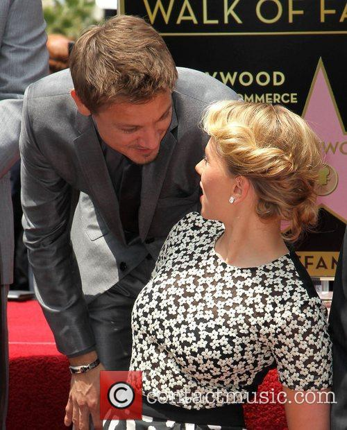 Jeremy Renner, Scarlett Johansson and Star On The Hollywood Walk Of Fame 2