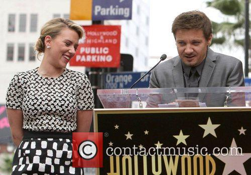 Jeremy Renner, Scarlett Johansson and Star On The Hollywood Walk Of Fame 5