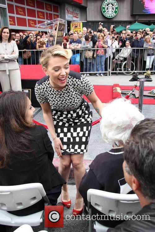 Scarlett Johansson and Star On The Hollywood Walk Of Fame 27