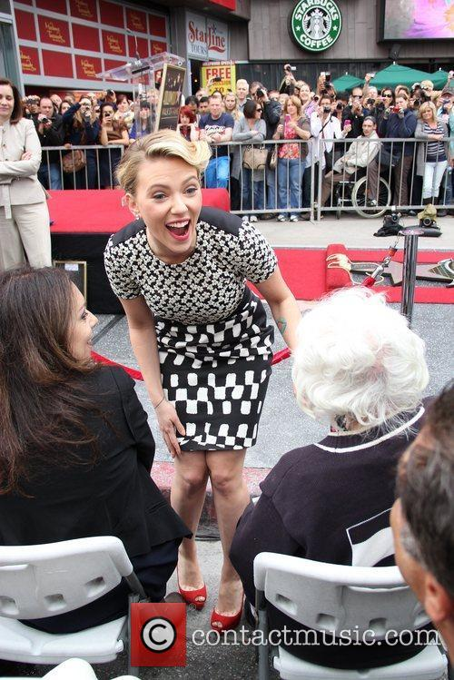 Scarlett Johansson and Star On The Hollywood Walk Of Fame 28