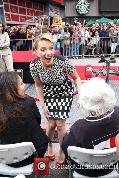 Scarlett Johansson and Star On The Hollywood Walk Of Fame 29