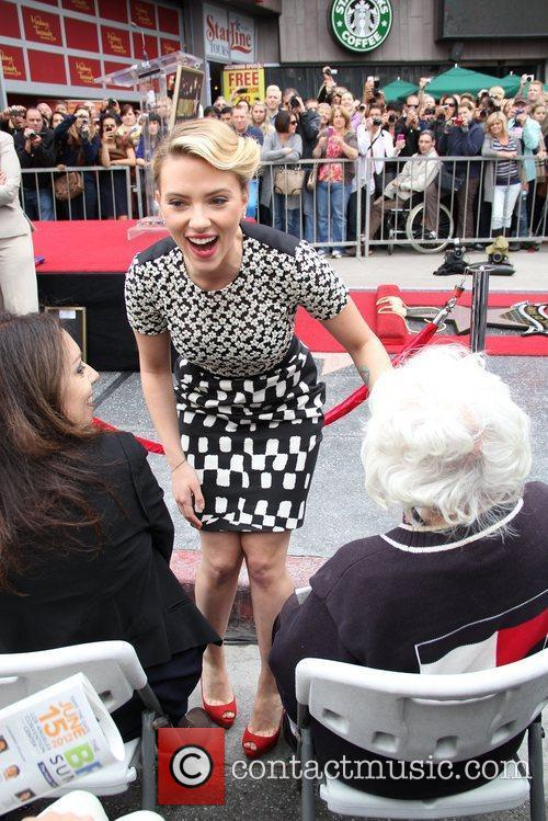 Scarlett Johansson and Star On The Hollywood Walk Of Fame 30
