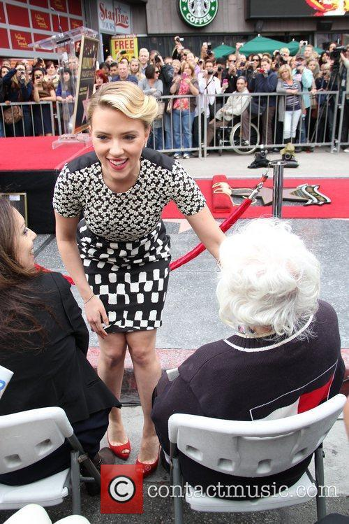 Scarlett Johansson and Star On The Hollywood Walk Of Fame 31